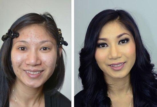 чудеса макияжа фото до и после