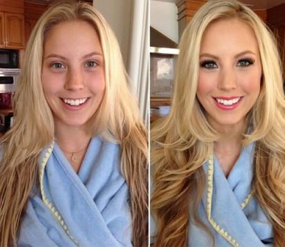 До и после макияжа фото девушек