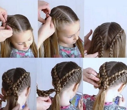 Причёски для девочек с резиночками фото пошагово