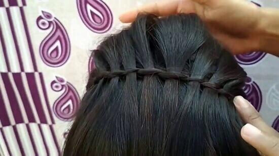 Причёска водопад пошаговое фото