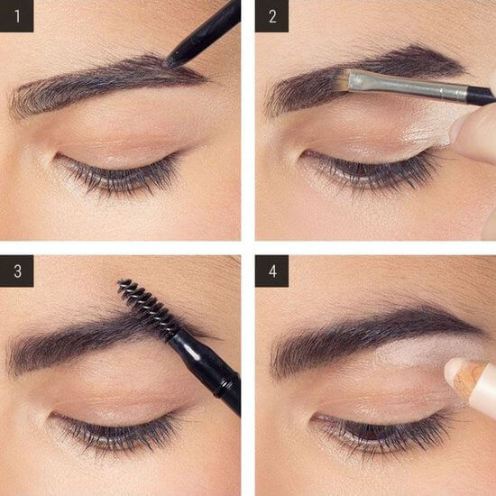 Как нарисовать брови тенями поэтапно фото макияж