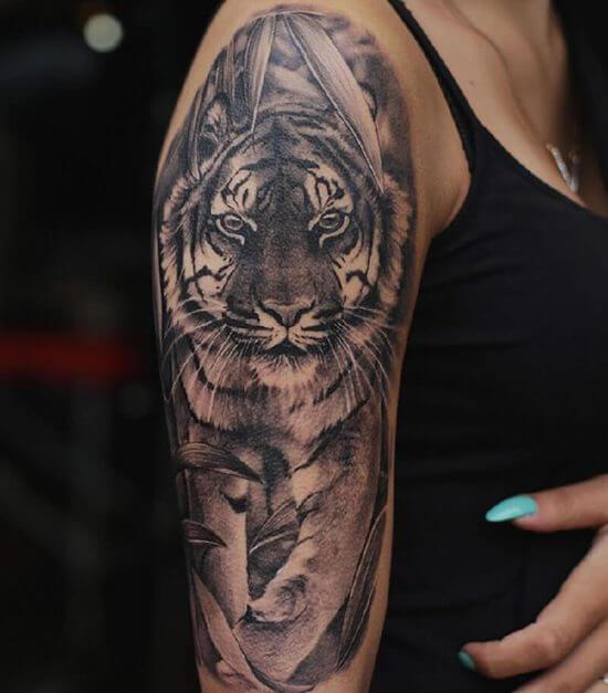 Тату тигра фото