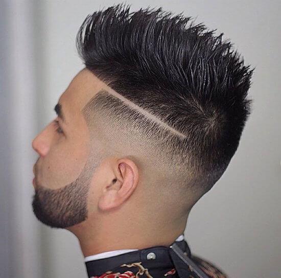 Мужская причёска с полоской