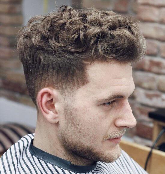 Русый волнистый волос какая подойдет мужская стрижка