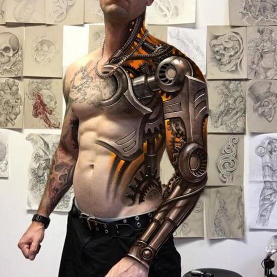 Тату биомеханика фото мужские