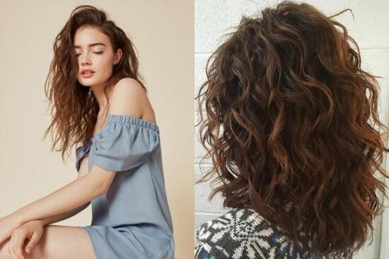 Каскад на короткие вьющиеся волосы