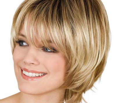 Каскад на короткие волосы для круглого лица