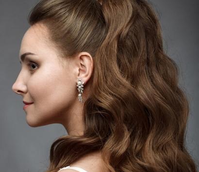 Объёмный хвост на длинные волосы