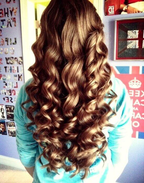 Локоны на длинные волосы в домашних условиях