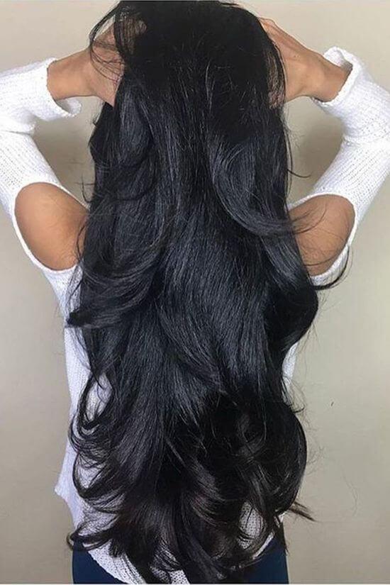 провести интересную фото длинных волос со спины ухода