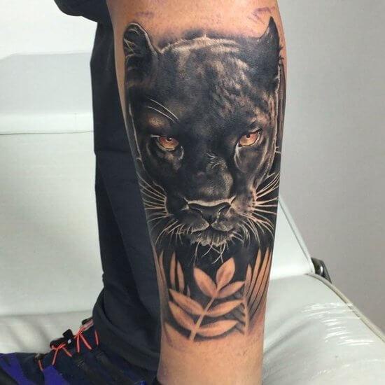 Пантеры временные татуировки чёрной красавицы