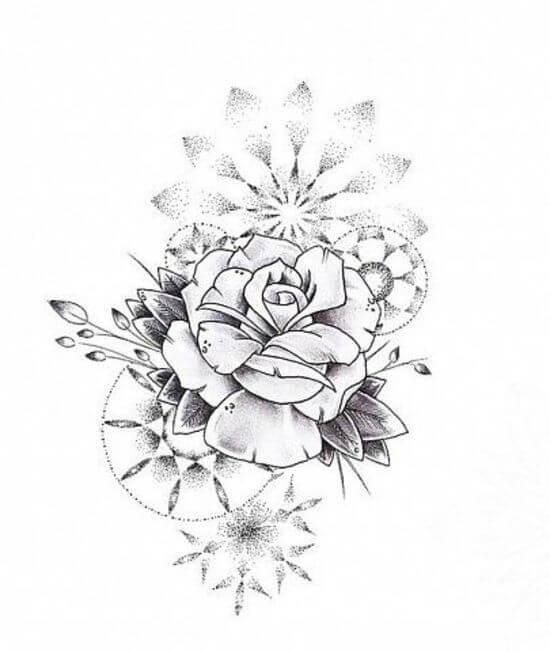 тату цветов на руке для девушек эскизы