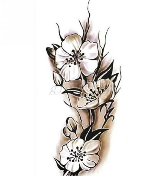 тату цветов на запястье