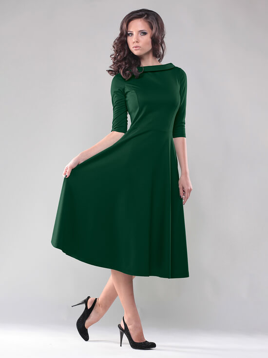 Платье изумрудного цвета фото