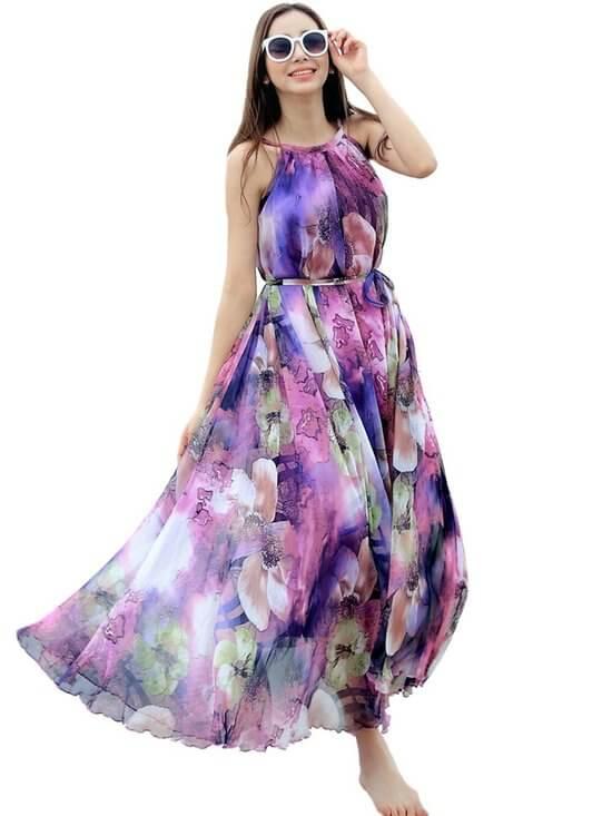 фасоны платьев из шифона фото
