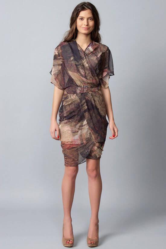 Платье с запахом 2019-2020 фото новинки
