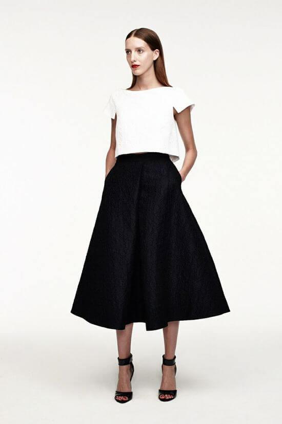 чёрная юбка колокольчик