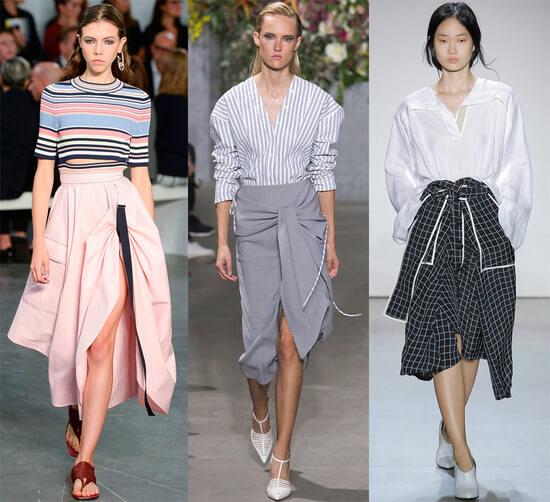 Юбки с запахом 2019-2020 модные тенденции
