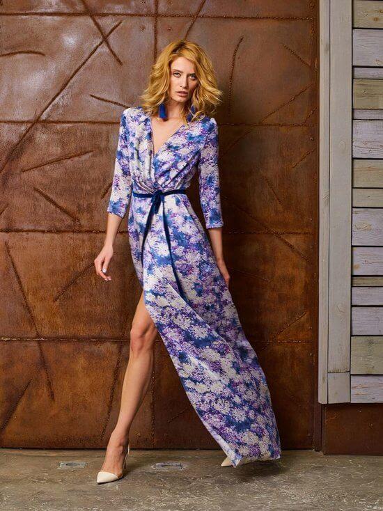 Платье халат с запахом фото